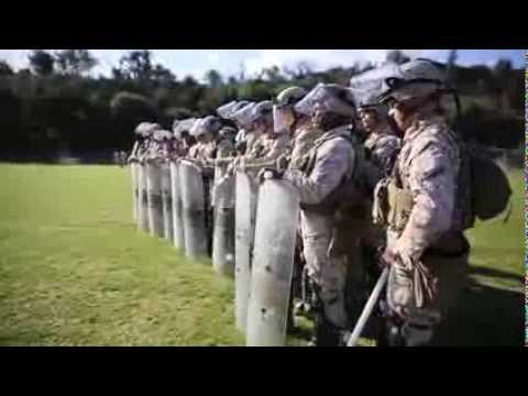 Marines Conduct a Spartan-like Exercise