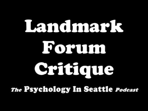 Landmark Forum Critique