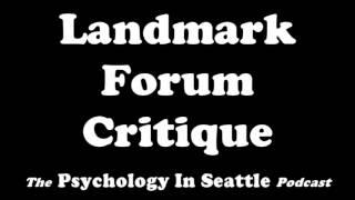 Landmark Forum Critique
