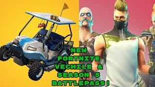 FORTNITE SEASON 5 BATTLE ITEMS | GOLF CART | TOYS | DANCES | SKINS
