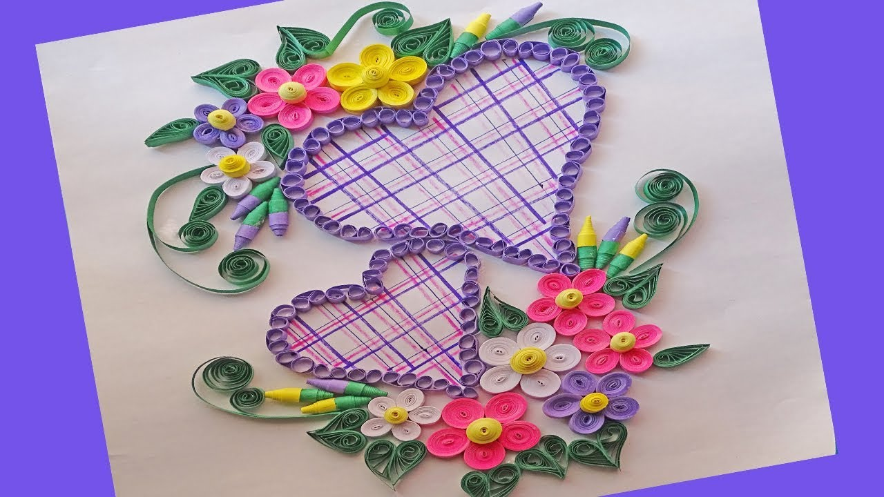 paper  how to make beautiful heart design paper quilling