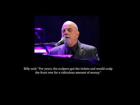 Why Billy Joel Never Sells Front Row Tickets