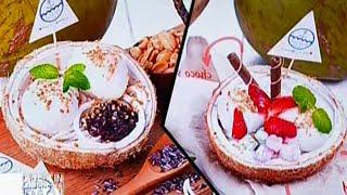 Kelasi (kelapa isi), minuman unik yang disajikan dengan batok kelapa - BIP 21/03