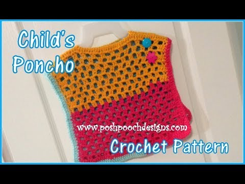 Child's Poncho Crochet Pattern