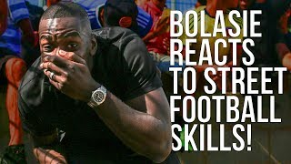 Yannick bolasie reacts to crazy street football skills! | the last stand tournament