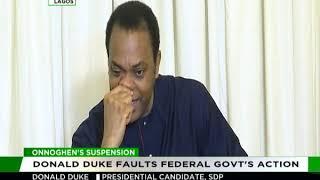 Donald Duke condemns suspension of CJN Onnoghen