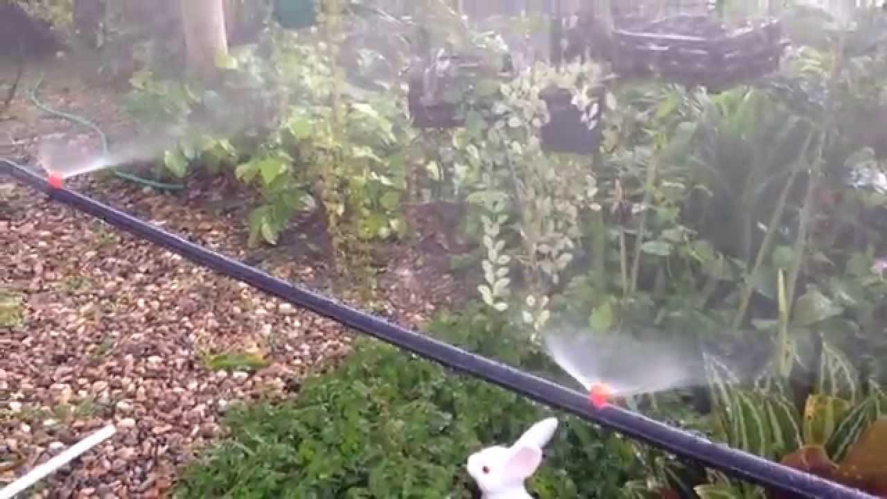 Diy Mini Sprinkler Orange 180 Watering In Garden Lawn