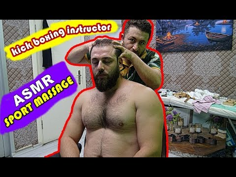 ASMR turkish massage barber=SPORT MASSAGE=head,back,ear,rope,toksen,gripes,sleep massage=spor masajı