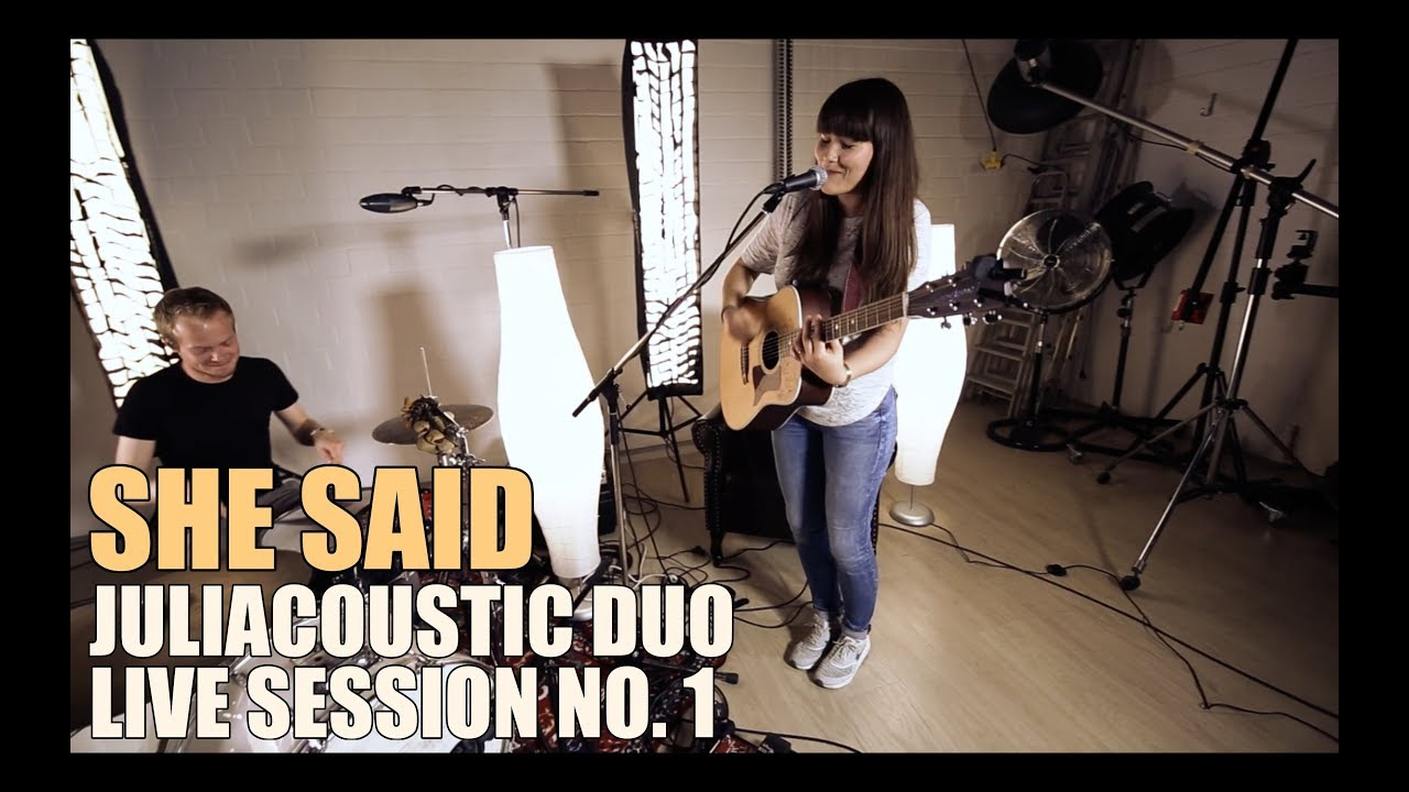 Flixbi She Said Juliacoustic Duo Live Session