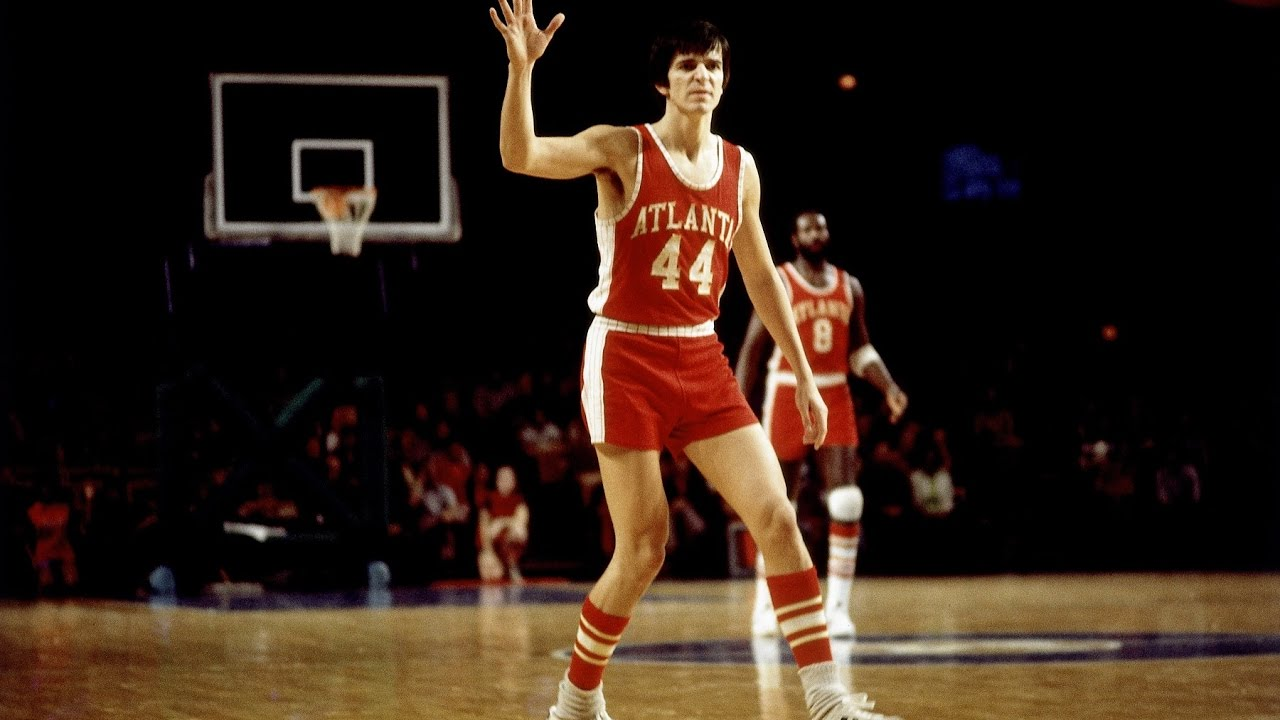 Pete Maravich Rare Footage With Hawks