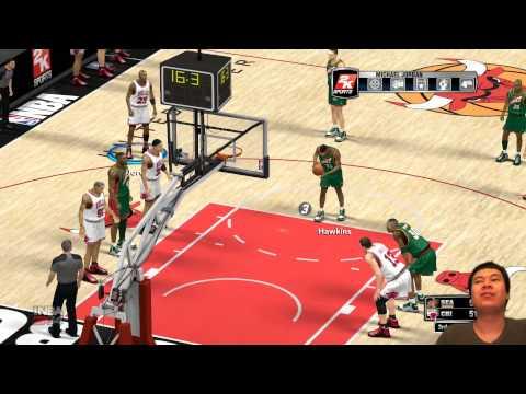 NBA 2K14 - Amazing 3 POINTER Buzzer (Bill Wennington 1995 Chicago Bulls)