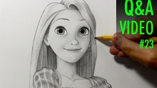 Drawing Practice: Rapunzel from Tangled [Q&A Video #23]