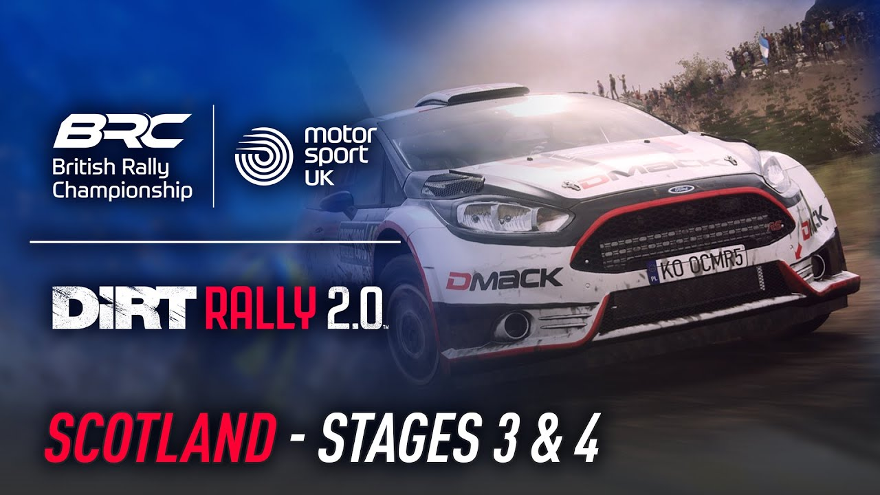 Scotland - Stages 3 & 4 - British Rally Championship Esports Invitational - DiRT Rally 2.0