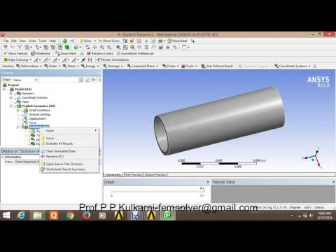 Explicit dynamic analysis of hollow shaft in ansys workbench