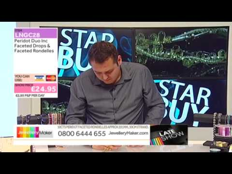 10 Strand Pearl Mega Bundle On The Late Show with Ed Mckay (JewelleryMaker) LIVE 23/10/2014