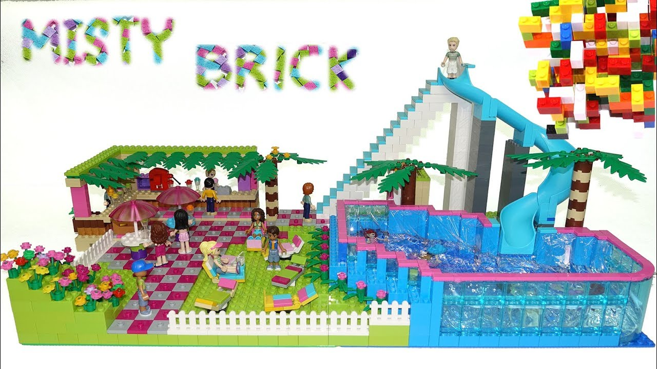 Lego Friends Super Toboggan To Swimming Pool By Misty