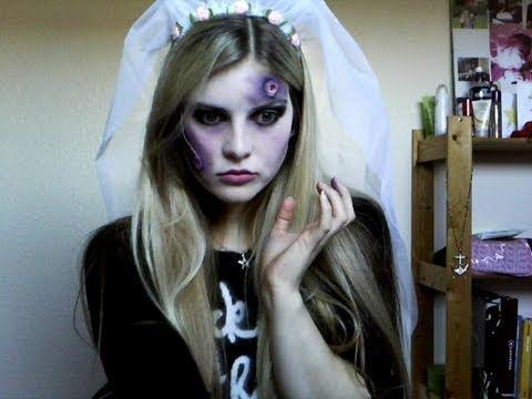 Halloween - Zombie Bride Make Up Tutorial - YouTube