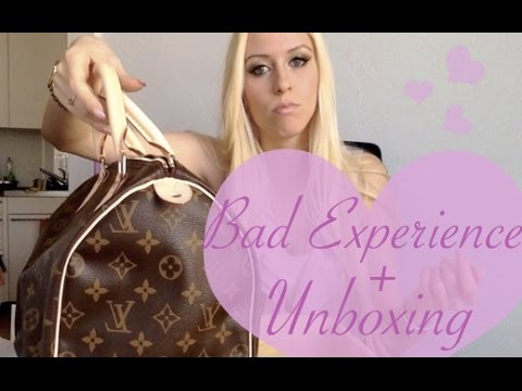 BAD Louis Vuitton Experience + Speedy 30 Monogram Canvas Unboxing