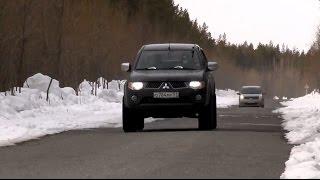 Делать ли ЧИП-тюнинг Mitsubishi L200?,  замеры до 100 racelogic.
