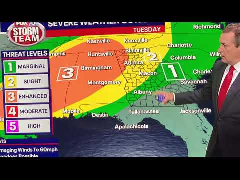 Possible Tornado Watch For Fayetteville GA, Atlanta Metro Area Expected For Star Wars Day 2021