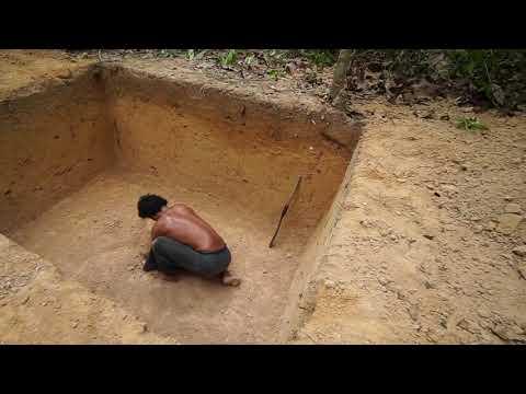 Строительство секретного подземного дома в джунглях