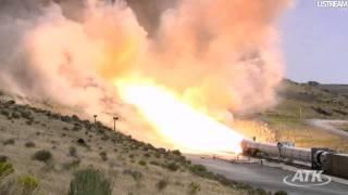 ATK 5 segment solid rocket booster DM3 test