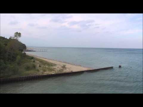 Lake Michigan (Highland Park, Illinois) Beach Drone Flight