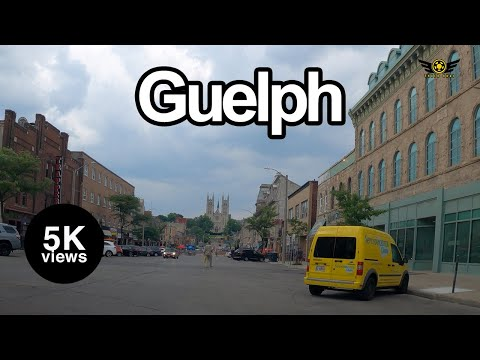 Guelph Downtown Ontario Canada 4K Evening Drive 2020