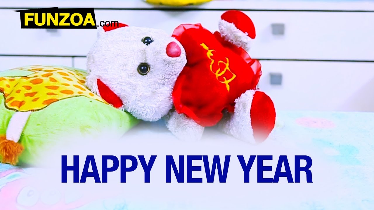 happy new year funny whatsapp video for friends family funzoa mimi teddy new year greetings youtube