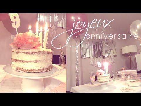 gateau-anniversaire-fille-|-recette-nude-cake-et-decoration-d'anniversaire-faciles