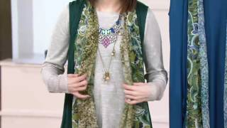 LOGO by Lori Goldstein Knit Vest with Printed Chiffon Trim on QVC(, 2017-01-05T03:15:02.000Z)