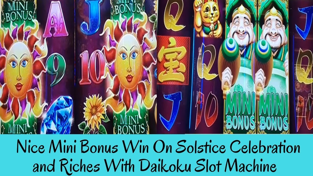 Download NICE MINI BONUS WIN ON SOLSTICE CELEBRATION and RICHES WITH DAIKOKU SLOT MACHINE - SunFlower Slots