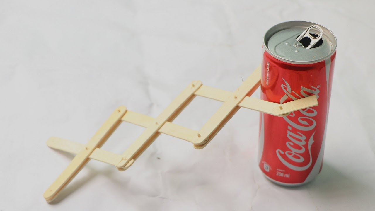 Hydraulic Arm With Popsicle Sticks : How to make robotic scissor arm using popsicle sticks