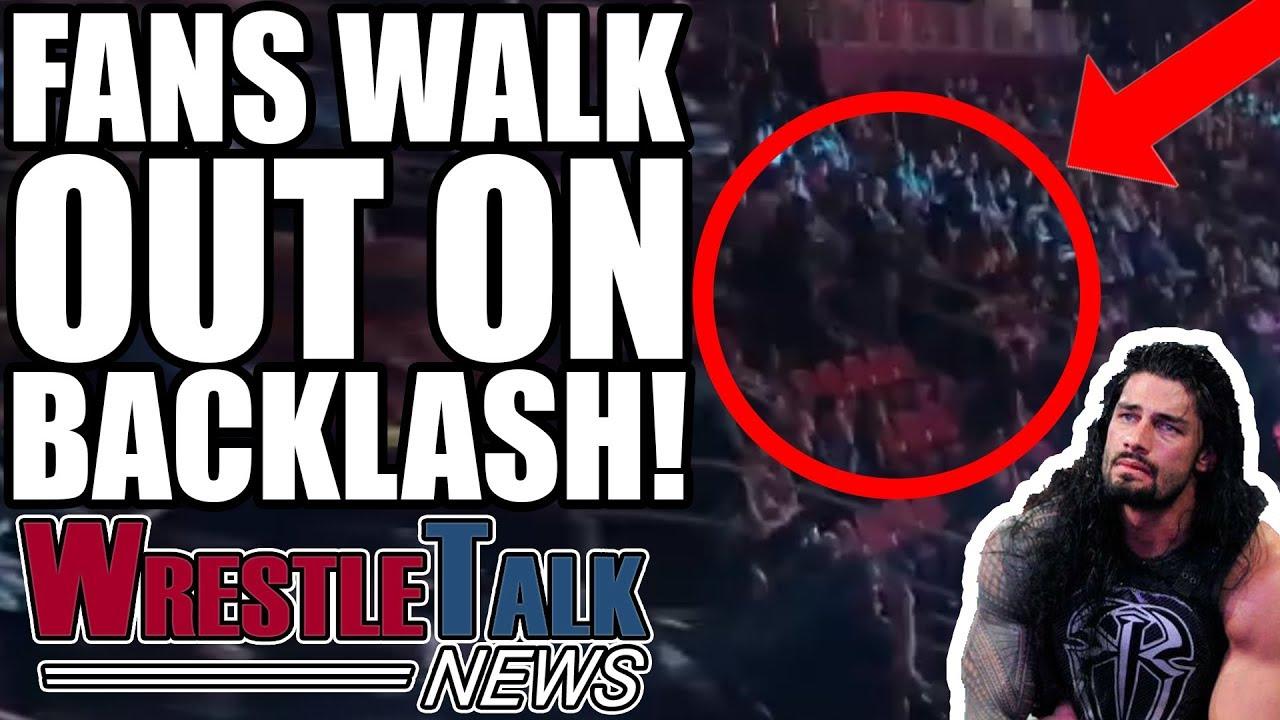 huge wwe star injured fans walk out on wwe backlash main event