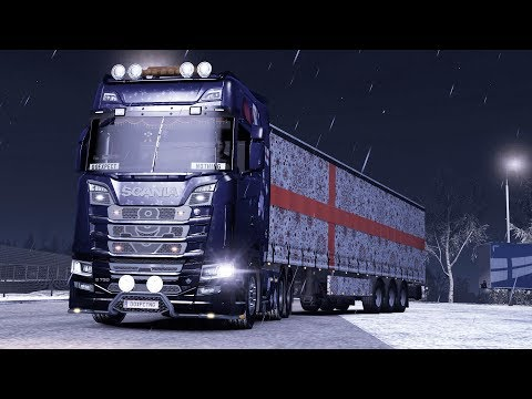 ETS2 1.33 International Gifts Delivery Scania S730  Helsinki - Luga