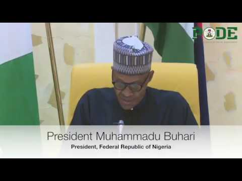 President Buhari Speaks After His Return Home