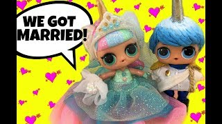LOL Doll Unicorn & Blue Get Married in this Beautiful Wedding Day Doll Story NEW Boy GG Custom too