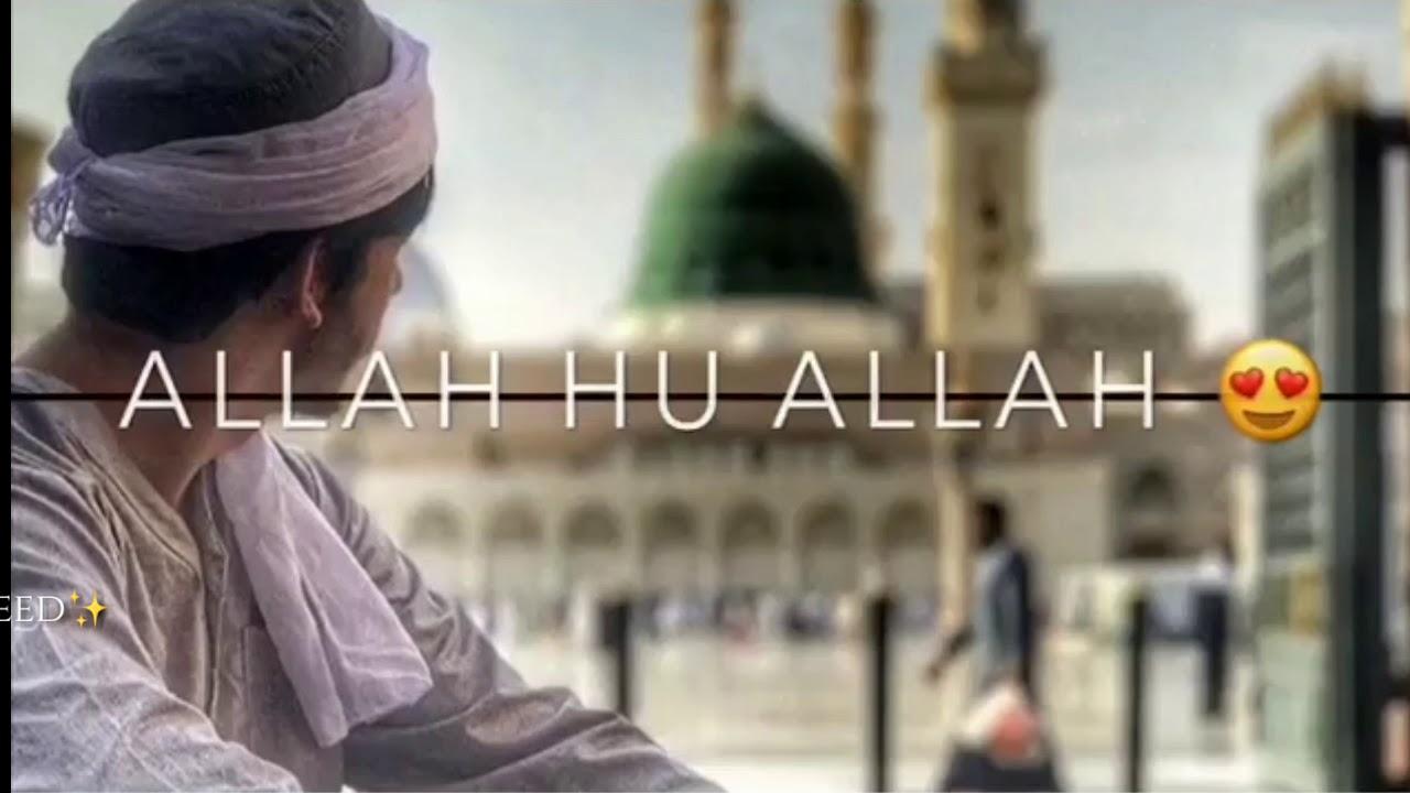 ALLAH HU ALLAH BEAUTIFUL NAAT STATUS LYRICS |WHATSAPP STATUS