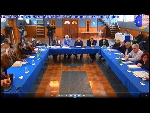 2017 - 10ª Sesión Ordinaria CORE - Comuna Torres del Paine - 17-04-2017