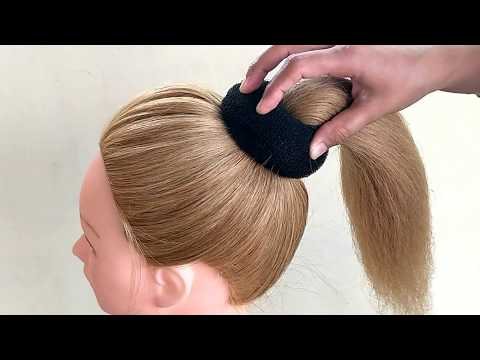 bun-hairstyles-for-medium-hair-|-easy-bun-hairstyles-with-trick-for-wedding-&-party-|-prom-hairstyle