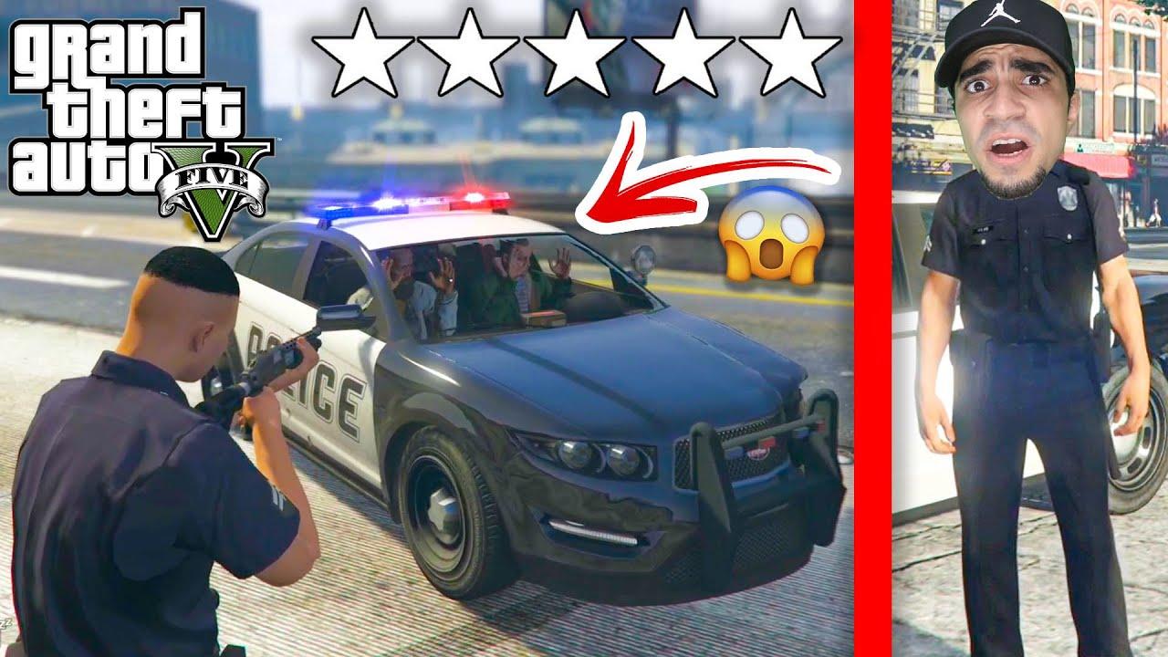 قراند 5 : مود الشرطة - شخصين سارقين سيارة شرطة - GTA V LSPDFR