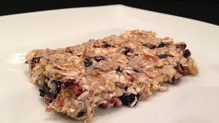 Blueberry Granola Bar Recipe - Hasfit Homemade Protein Bar Recipes - Breakfast Bars - Energy Bar