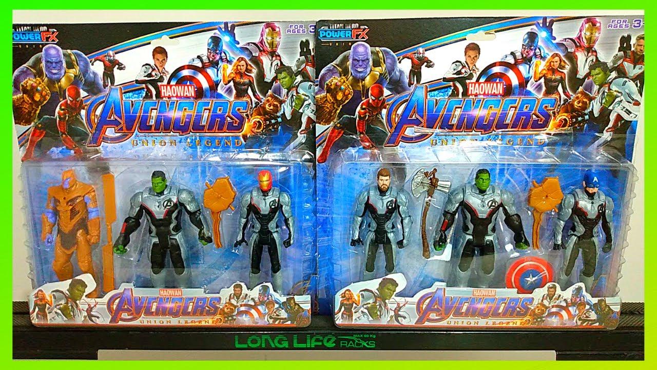 Review 6 Bonecos Vingadores Endgame - Nova Coleção Avengers - Hulk,Thanos,Capitão América,Thor