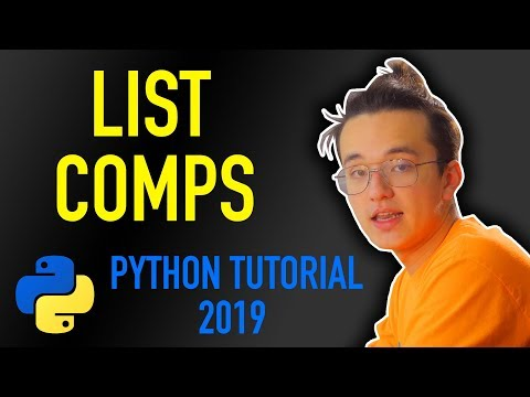 17 - how do I use list comprehensions in python? (Python tutorial for beginners 2019) thumbnail