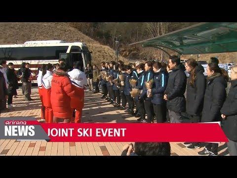 Two Koreas start joint ski training in North Korea