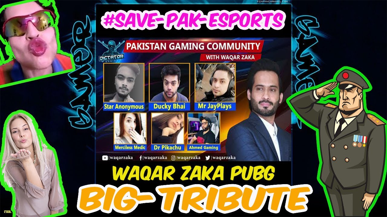 PUBG Banned in Pakistan | Tribute to Waqar ZAKA - PUBG | #UNBANPUBG #PTA