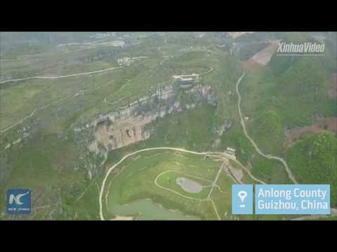 "165 meters above ground! China's first ""museum on cliff"" built in Guizhou"