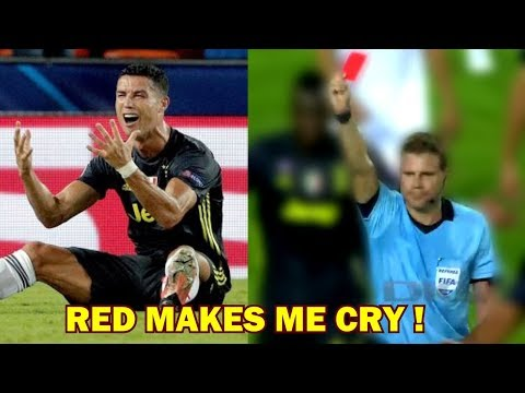 Ronaldo RED CARD and CRY LIKE A BABY