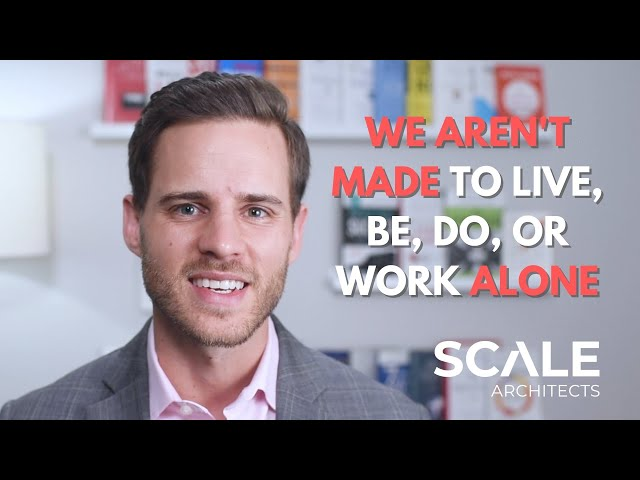 We aren't made to live, be, do, or work alone