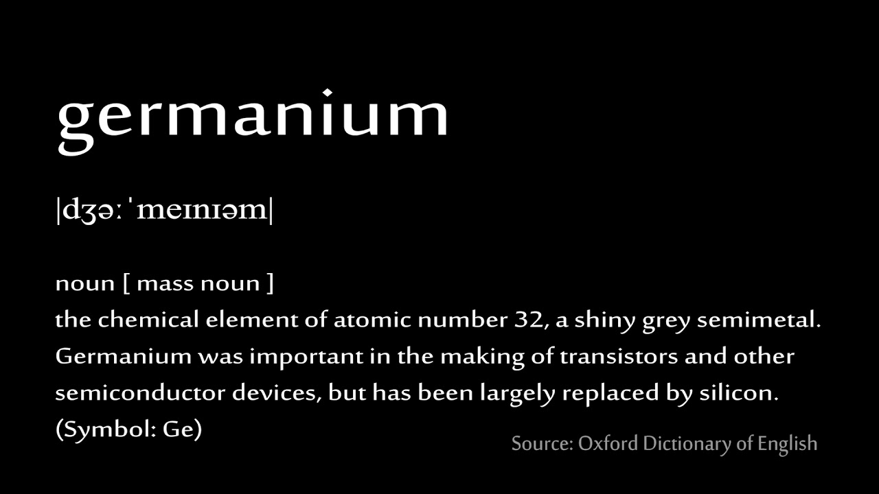 32 Germanium How To Pronounce Chemical Elements Periodic Table